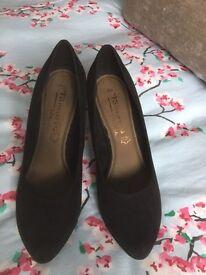 Tamaris Black Heel Shoes.