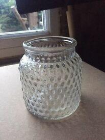 Glass bubble effect vases x10