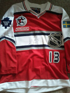 MATS SUNDIN AUTOGRAPHED MAPLE LEAFS-SWEDEN ALL STAR JERSEY