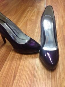 Purple Patent Leather Heels Size 9 $10 obo