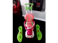 Chicco quattro girls 4 in 1 ride on car and rocker