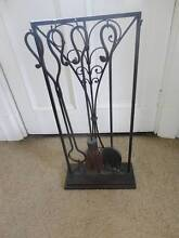 Black wrought iron fireside tools Armidale 2350 Armidale City Preview