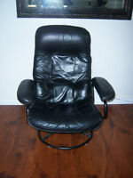 Black Leather Recliner Chair