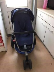 Quinny buzz xtra blue with raincover