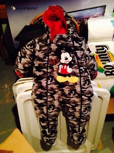 Mickey Mouse snow suit