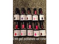 Set of new gel nail polishes can post £3 tracked