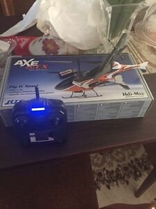 Rc Helicopter W/ 2 Batteries Axe 100 CX
