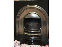 Victorian cast iron fireplace inlay