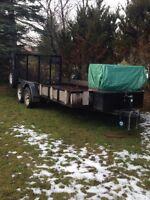 utility trailer 7x16 2x3500lb tandem axles