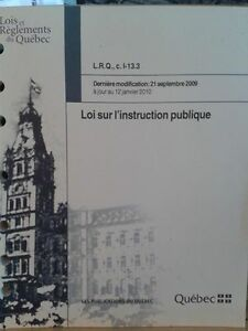 Loi sur l'instruction public