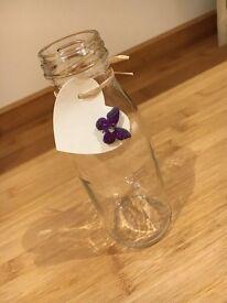 80 Alternative Wedding Cocktail Glasses (Milk Bottles 250ml)