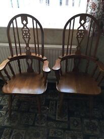 Carver chairs x2