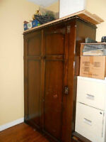 LARGE antique wooden wardrobe