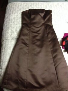 Alfred Sung Strapless Dress Size 2- Espresso
