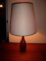 Vintage Danish Mid-Century Modern Sold Wood Teak Table Lamp