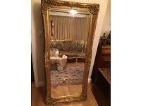 Antique Large Gold Mirror