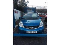 2009 NISSAN NOTE TEKNA AUTO BLUE 1.6 PETROL MPV 1 OWNER SAT NAV