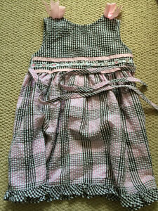 Black and pink checkered dress, 2T Kitchener / Waterloo Kitchener Area image 1