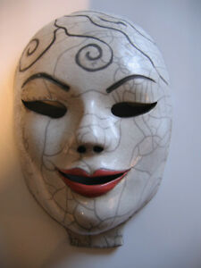 RAKU WALL MASK MADE BY ONTARIO ARTIST