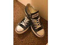 Converse all stars- dark blue. Size 6