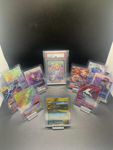 Pokemon Mystery 10 Card Lot. Ex-gx-v-psa-beckett?