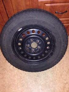 "16"" winter tires, rims included"