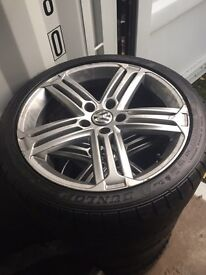"Vw Golf R Mk6 18"" alloy wheels with tyres"