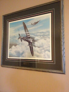 """""""Spitfires Over Normandy"""" reproduction"""