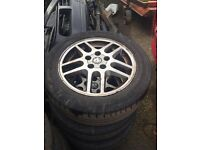 "Set of 4 16"" Vauxhall alloys, all legal tyres"