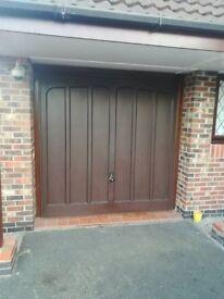 Hormann fibreglass retractable garage door