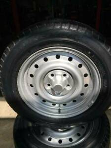 NEW 215/60R16C TYRES FITTED ONTO GOOD CONDITION FORD RIMS