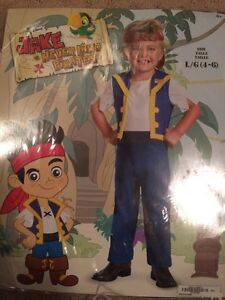 Boys Jake and the neverland pirates costume 4-6 (LG)