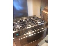 6 burner gas electric oven