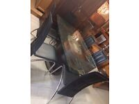 Large glass table new
