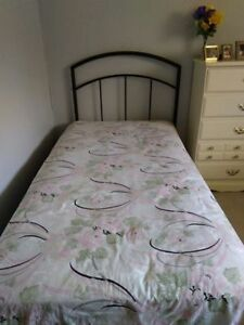 Twin Bed, frame and mattress
