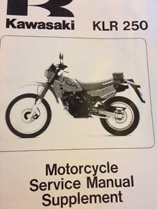 1985-1997 Kawasaki KL250 Service Manual Supplement  Regina Regina Area image 1