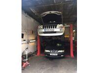 Car garage, body work repair and buffer spray