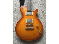 Dean Evo electric guitar, PRS style, coil taps, Grover tuners