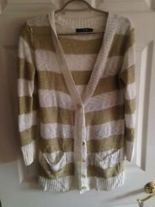 Forever21 Sparkle Stripe Cardigan (M/L) Peterborough Peterborough Area image 1