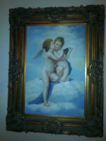 OIL PAINTING REPRODUCTION PLASTER WOOD FRAME