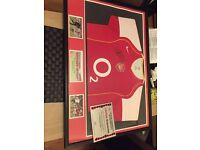 Thierry Henry signed framed shirt display with COA