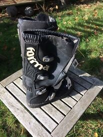 Forma FMX Motocross boots. UK Size 7. EUR 41. US 7.5. Black & White