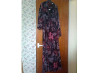 Ladies Maxi Dress With Sleeved Bolereo Jacket Size 30