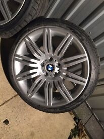 "BMW 172 alloys 19"" new refurb & New tyres"