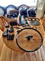 Tons of lightly used mountain bike parts