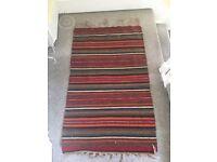 Authentic Beautiful Handspun Egyptian Turkish-style Kilim Rug