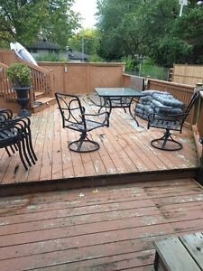 Patio set!! With cushions