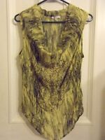 Buffalo David Bitton semi sheer top with beading - Size Small