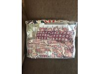 100% original Gul Ahmed cotton king size bed sheet duvet cover and 4 pillows PRP £90 wow deal
