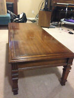 Hardwood Coffee Table and Two End Tables